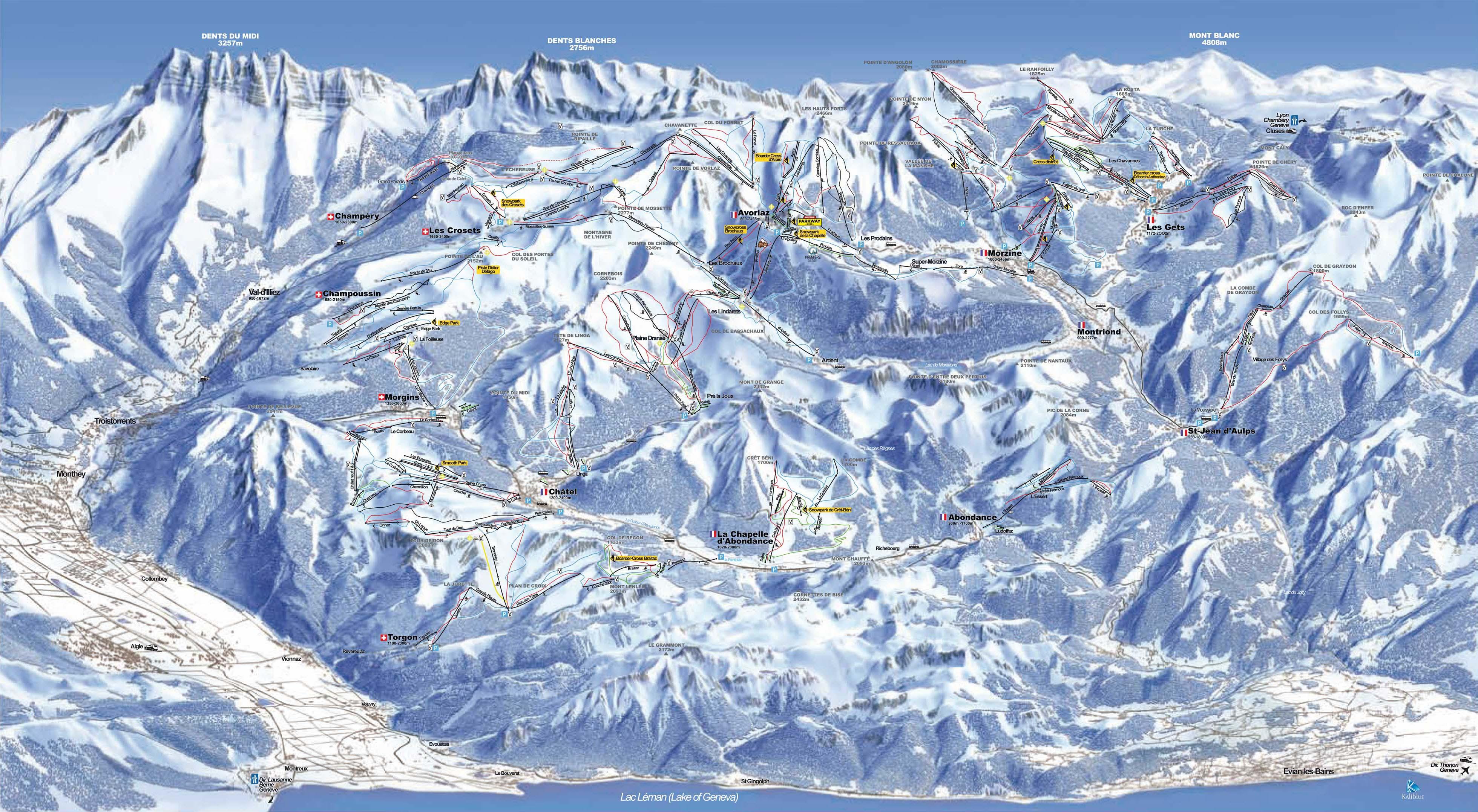 Portes du Soleil Ski Map