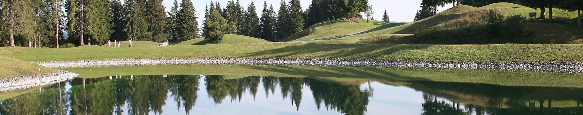 Les Gets, golf et lac